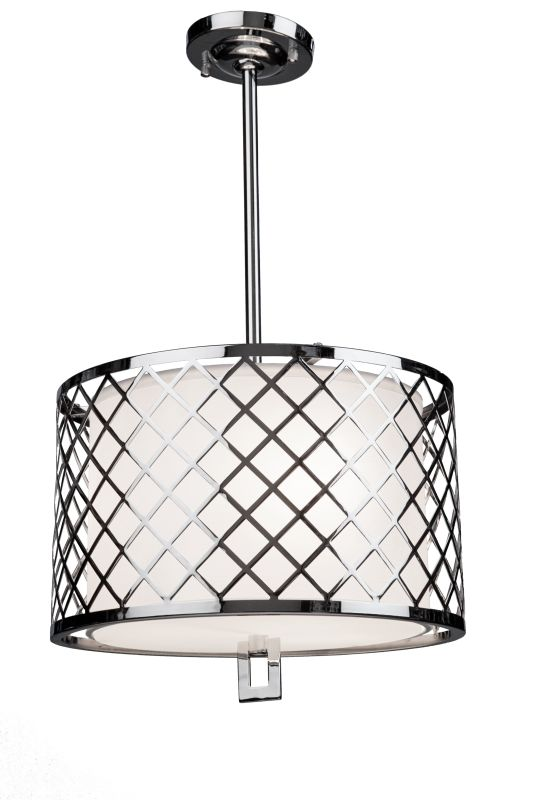 Artcraft Lighting SC963 Trellis 3 Light Drum Pendant Chrome Indoor Sale $428.00 ITEM: bci2494825 ID#:SC963 UPC: 778350963008 :