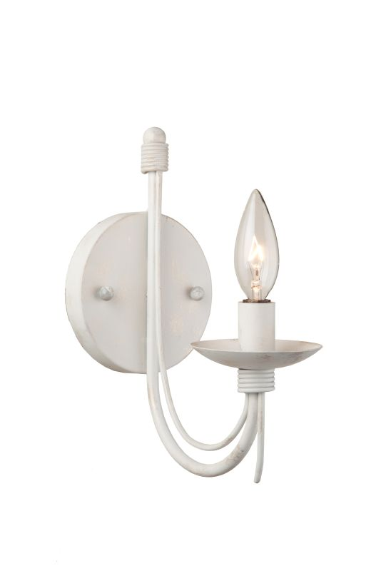Artcraft Lighting AC1481AW 1 Light Candle Style Wall Sconce Antique