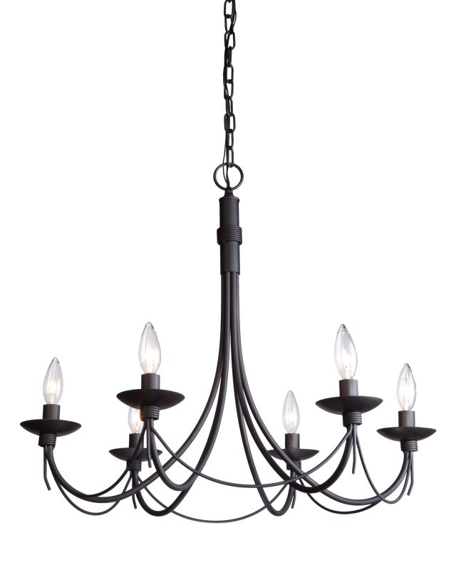 Artcraft Lighting AC1486EB Single-Tier Candle Style Chandelier with 6