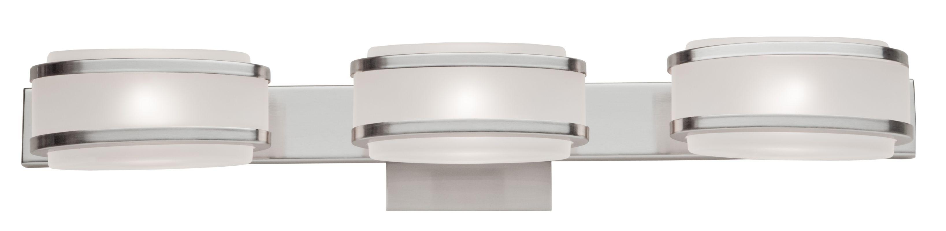 Artcraft Lighting Ac533bn Brushed Nickel Boulevard 3 Light Ada Compliant Bathroom Fixture