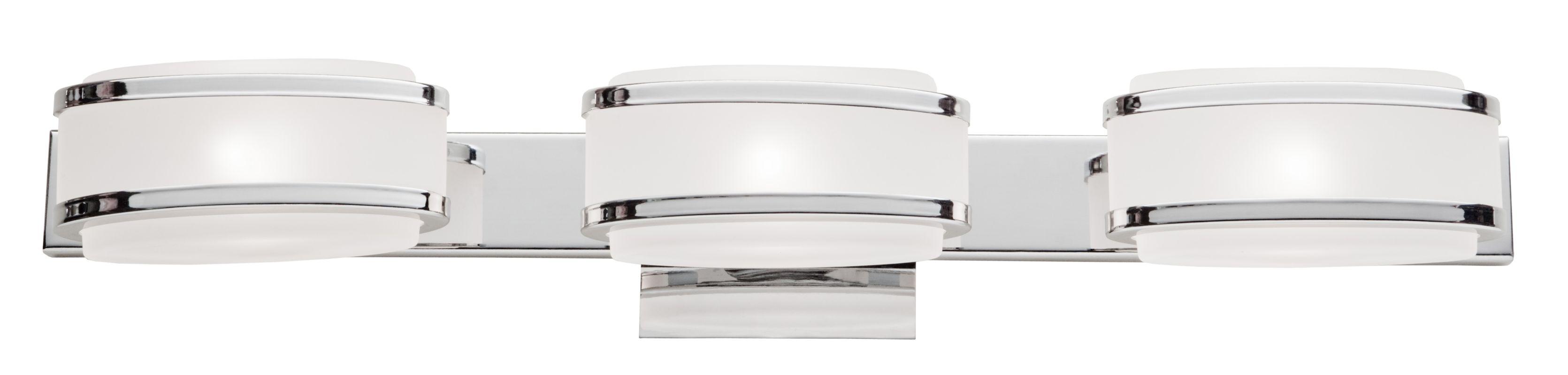 Artcraft Lighting AC533CH Chrome Boulevard 3 Light ADA Compliant Bathroom Fix