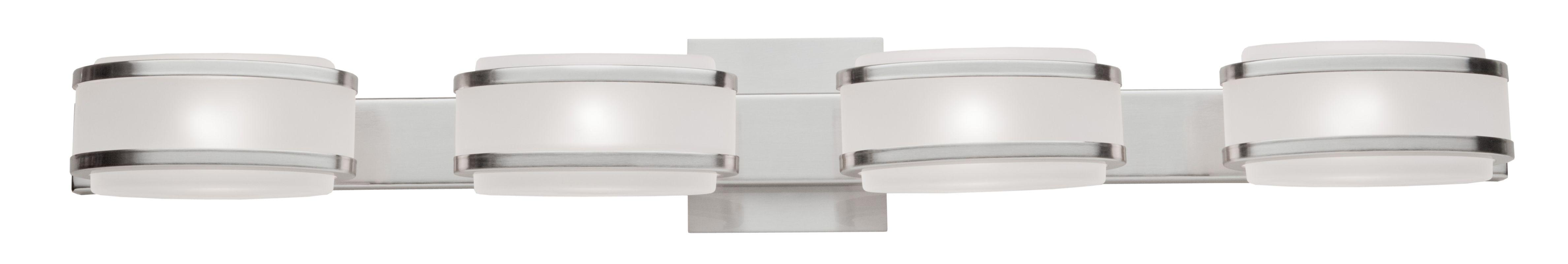 Artcraft Lighting Ac534bn Brushed Nickel Boulevard 4 Light Ada Compliant Bathroom Fixture