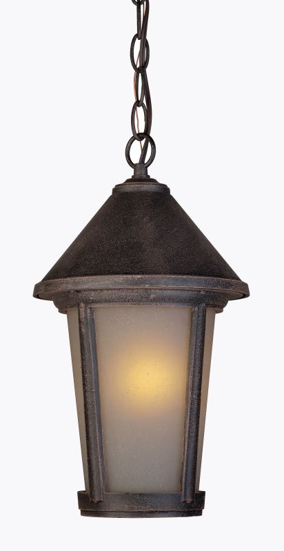 Artcraft Lighting AC8215RU Malibu 1 Light Lantern Pendant Rust Outdoor
