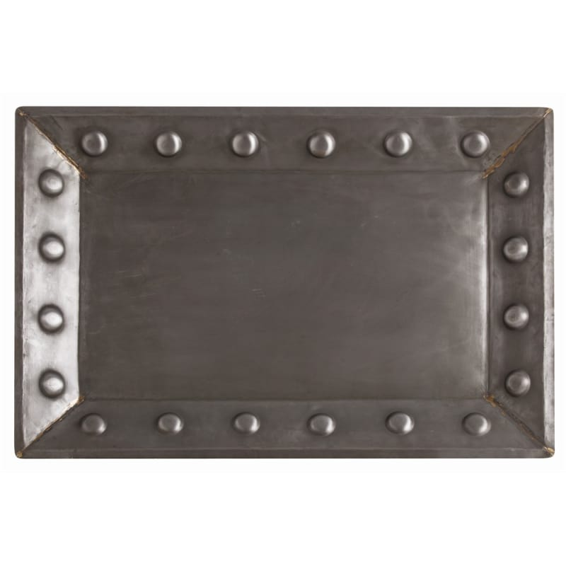 Arteriors 2039 Baker 30 Inch Wide Tray Natural Iron Home Decor