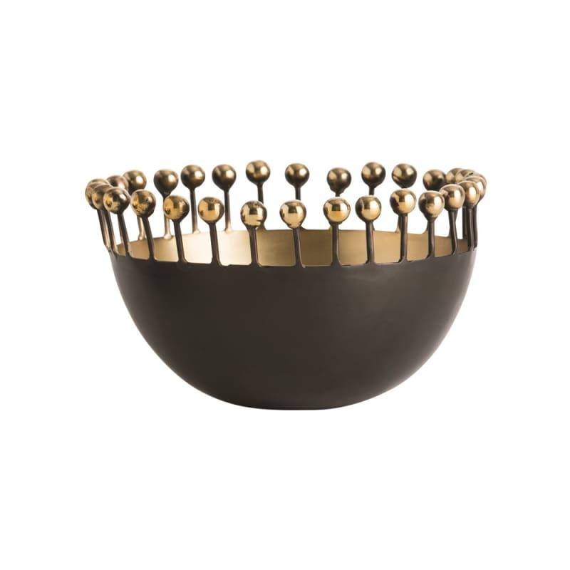 Arteriors 2055 Riya 3.5 Inch Tall Brass Bowl Bronze Home Decor