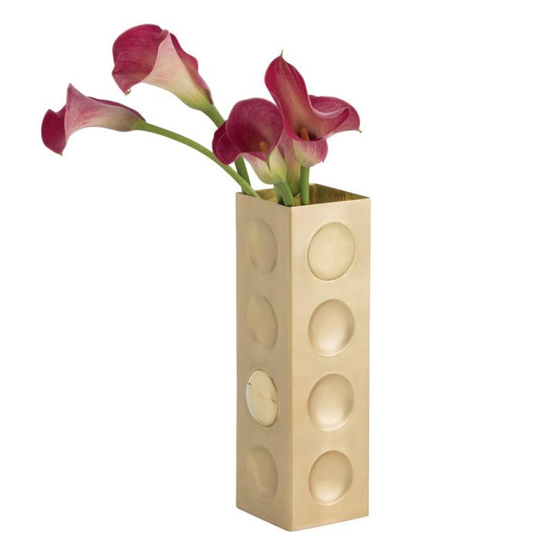 Arteriors 2058 Tess 10 Inch Tall Vase Matte Brass Home Decor Vases