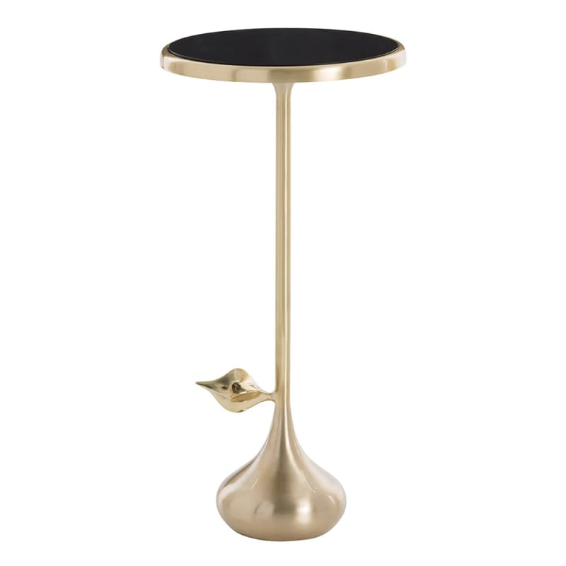 Arteriors 2592 Delilah 9.5 Inch Diameter Glass Top Accent Table Matte