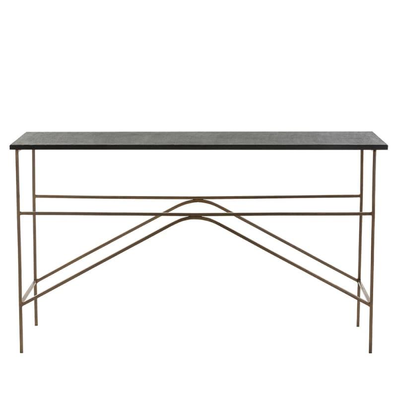 Arteriors 2653 Deacan 54 Inch Long Granite Top Iron Console Table