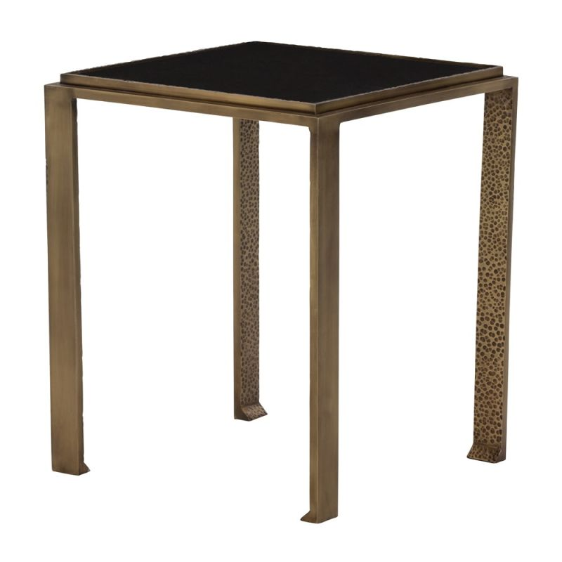 Arteriors 2673 Terence 15 Inch Wide Granite Top Iron Accent Table