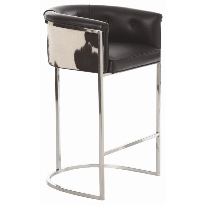 Arteriors 2670.2750 Calvin 39 Inch Tall Brass Framed Leather Bar Stool