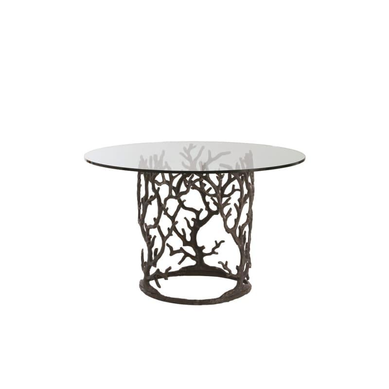"""Arteriors 3195-54 Ursula 54"""" Diameter Glass Top Dining Table Natural"""