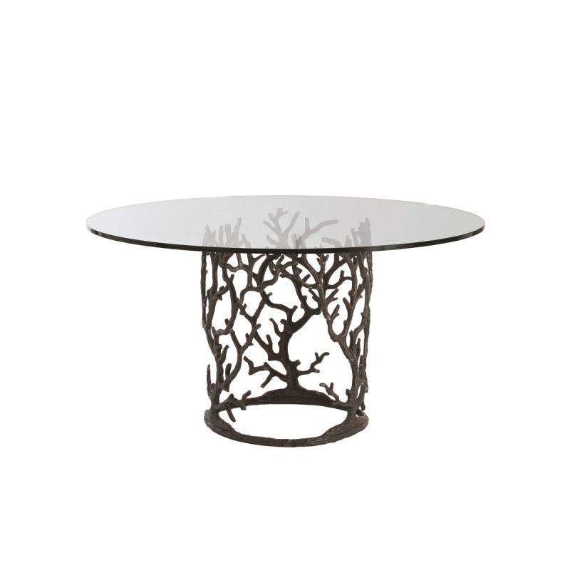 """Arteriors 3195-60 Ursula 60"""" Diameter Glass Top Dining Table Natural"""