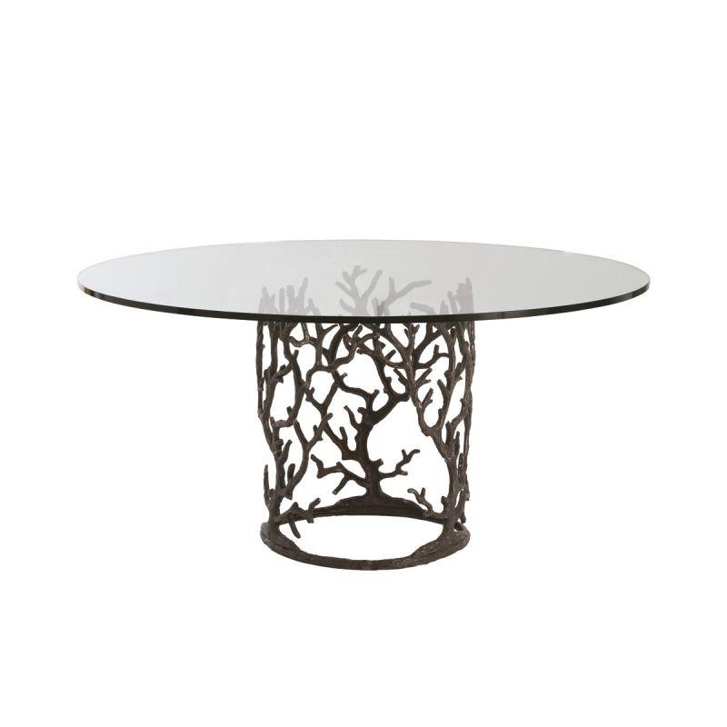 """Arteriors 3195-66 Ursula 66"""" Diameter Glass Top Dining Table Natural"""