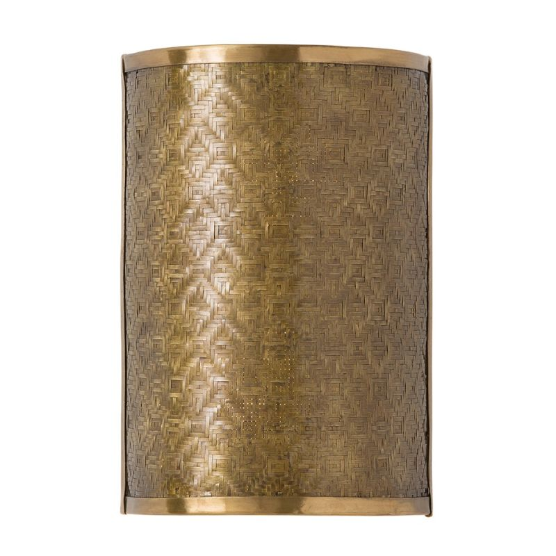 "Arteriors 44011 Fable 12"" Tall 2 Light Wall Sconce Vintage Brass"