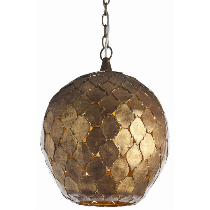 "Arteriors 46576 Osgood 14"" Wide Single Light Pendant Gold Leaf Indoor"