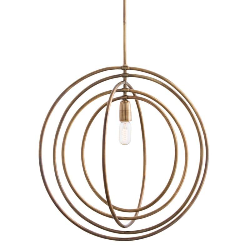 "Arteriors 46836 Quintana 24.5"" Wide Single Light Pendant Antique Brass Sale $1080.00 ITEM: bci2990297 ID#:46836 UPC: 796505244710 :"