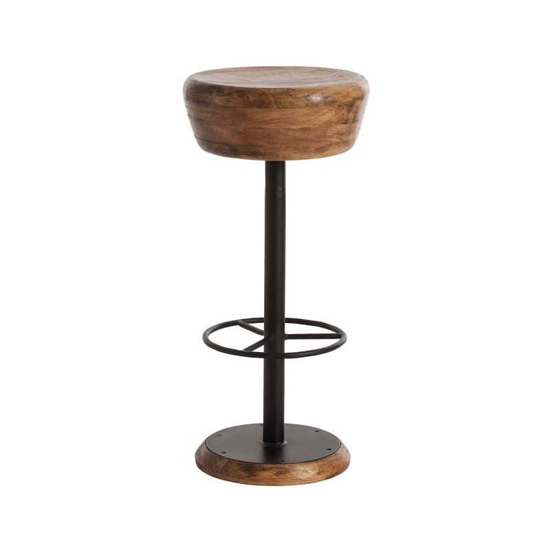 """Arteriors 6121 Caymus 30"""" Tall Solid Wood Bar Stool Natural Furniture"""