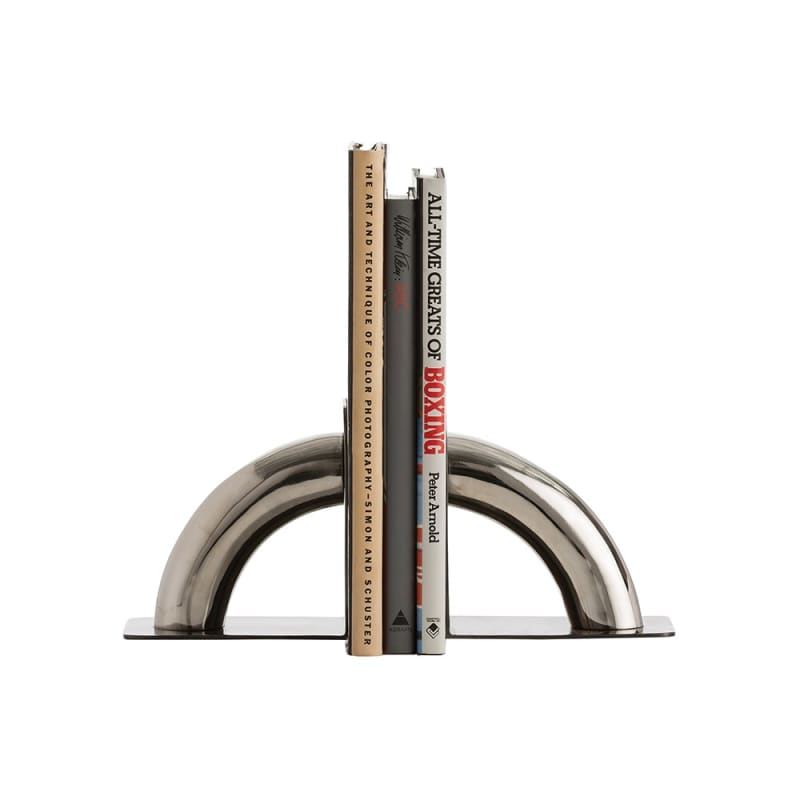 Arteriors 6122 Faulkner 2 Piece Stainless Steel Bookends Set Polished