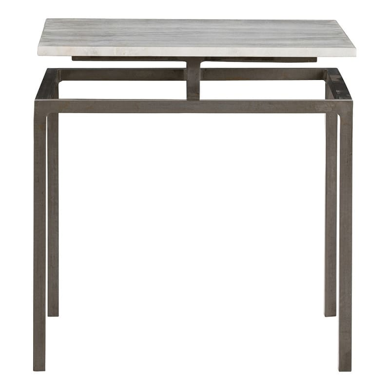 Arteriors 6163.6439 Indigo 18 Inch Wide Marble Top End Table Natural