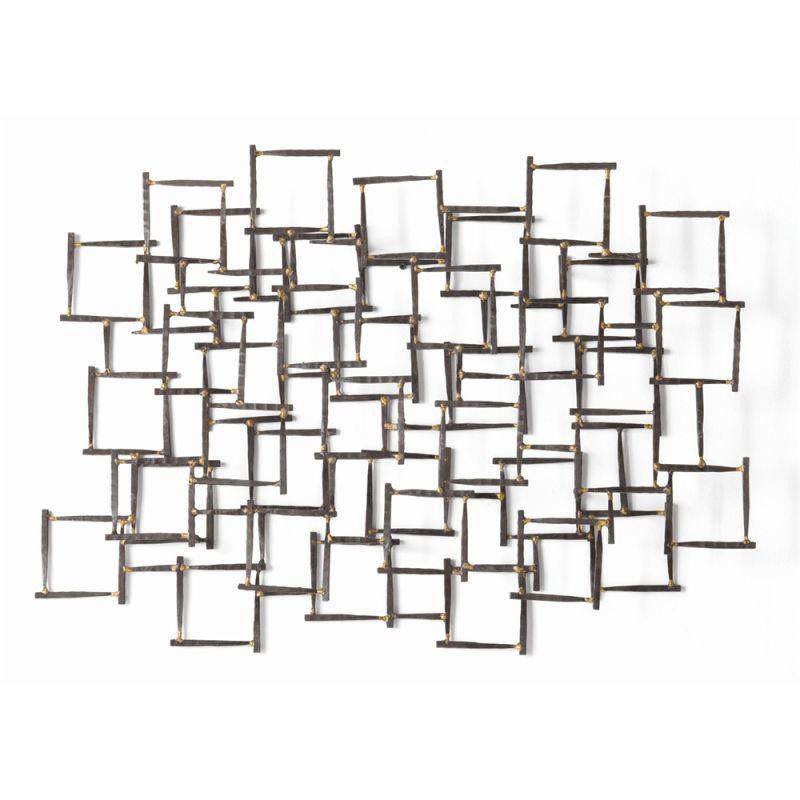 Arteriors 6347.6799 Ecko 34 Inch x 25 Inch Iron Wall Sculpture Brown -  Arteriors Home