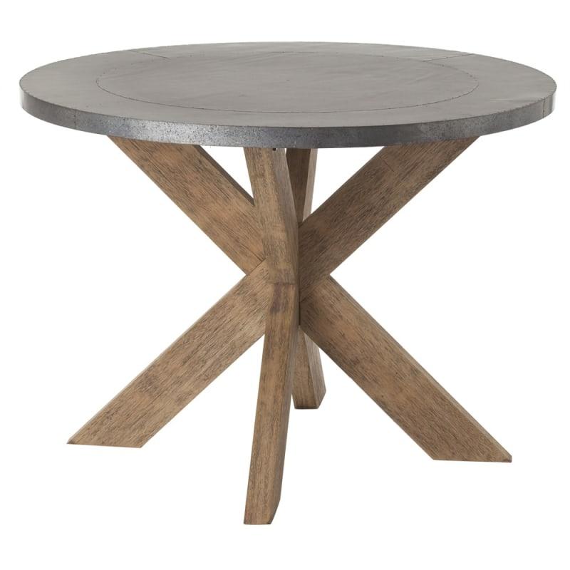 Arteriors 6417 Halton 42 Inch Diameter Iron Top Wood Accent Table