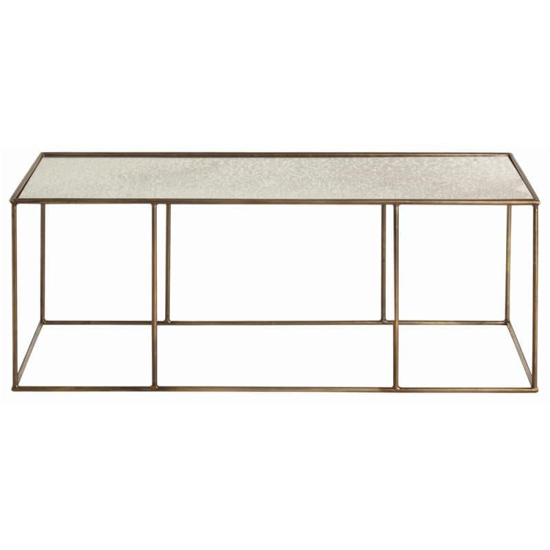 Arteriors 6531 Othello 48 Inch Long Mirror Top Iron Coffee Table