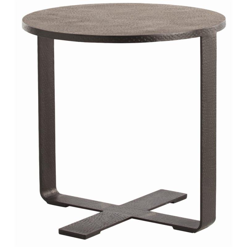 Arteriors 6632 Ramiro 24 Inch Diameter Iron End Table Black Waxed
