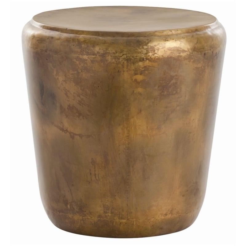 Arteriors 6655 Santiago 21 Inch Diameter Iron Accent Table Burnt Brass