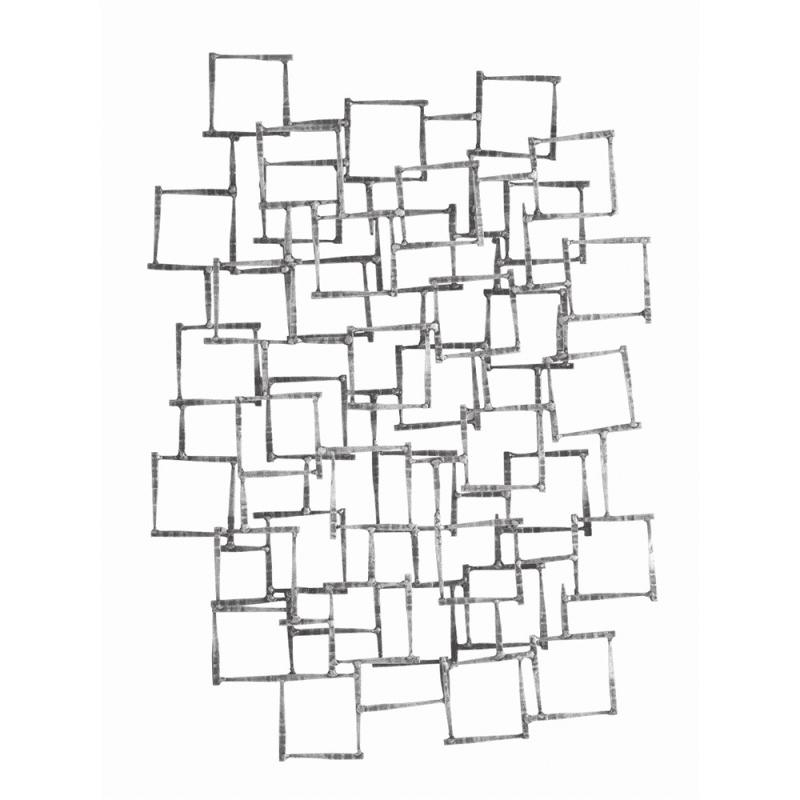 6347. Ecko 34 Inch x 25 Inch Iron Wall Sculpture Gray - Arteriors 6799