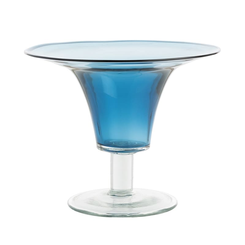 Arteriors DS7001 Julius 13 Inch Tall Glass Vase Blue Home Decor