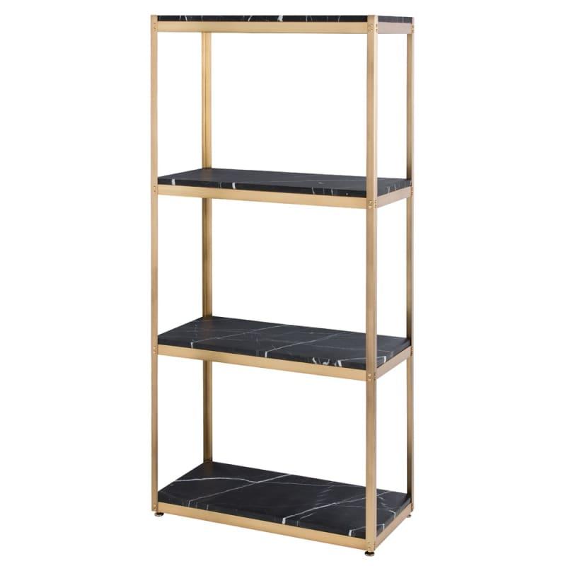 Arteriors DS9000 Iro 75 Inch Tall Steel Shelf Antique Brass Furniture