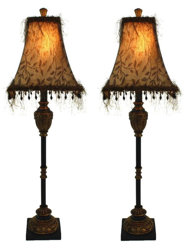 Aspire Home Accents 2335 Emelia Buffet Lamp (Set of 2) Black / Gold
