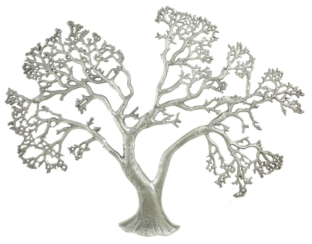 Aspire Home Accents 2535 Fairfield Tree Wall Decor Silver Home Decor