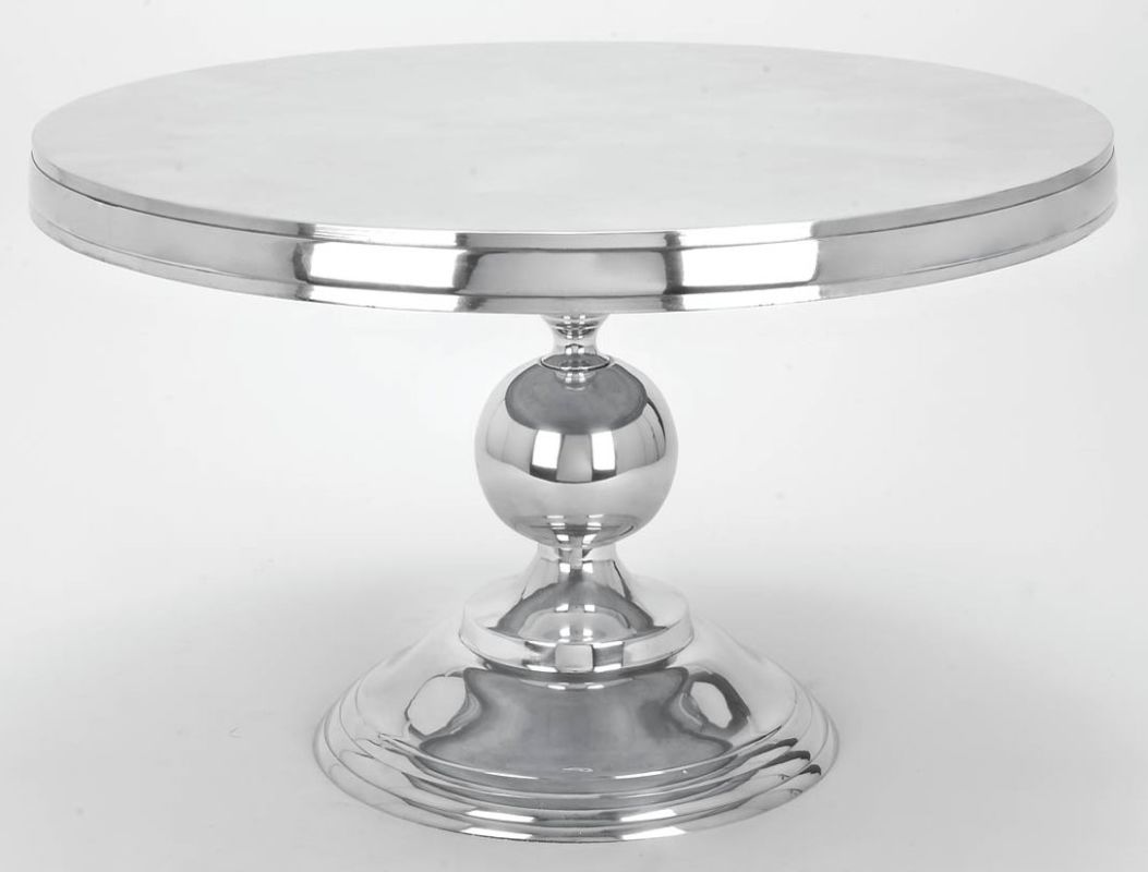 Aspire Home Accents 30780 Round Aluminum Cocktail Table Silver