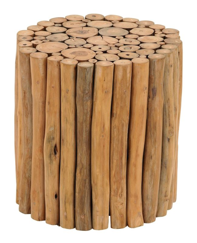 Aspire Home Accents 38411 Natural Teak Branch Wood Stool Brown