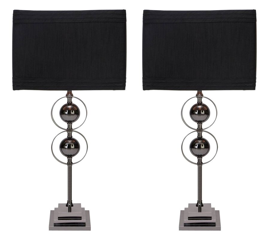 Aspire Home Accents 40110 Jaren Table Lamp (Set of 2) Black / Gray