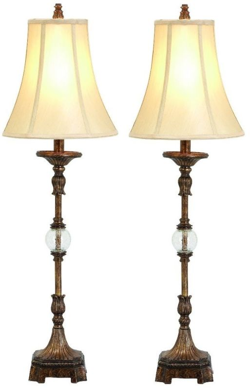 Aspire Home Accents 49961 Pax Buffet Lamp (Set of 2) Antique Brown /