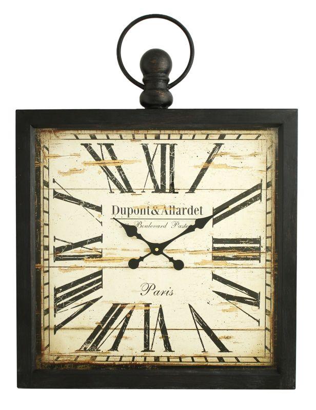 Aspire Home Accents 5134 Olivia Square Wall Clock Gray Home Decor Wall