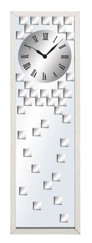 Aspire Home Accents 51740 Modern Design Mirror Wall Clock Silver Home