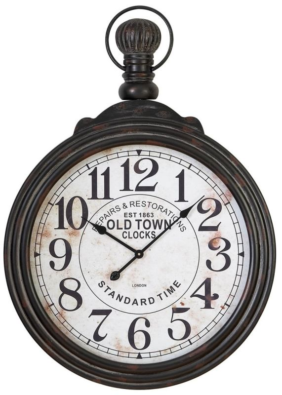 """Aspire Home Accents 52107 39"""" Pocket Watch Style Large Wall Clock"""