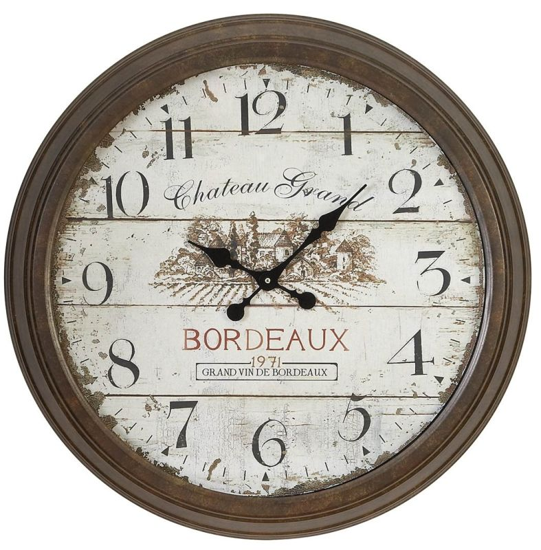 "Aspire Home Accents 52503 28"" Bordeaux Vintage Style Wall Clock"