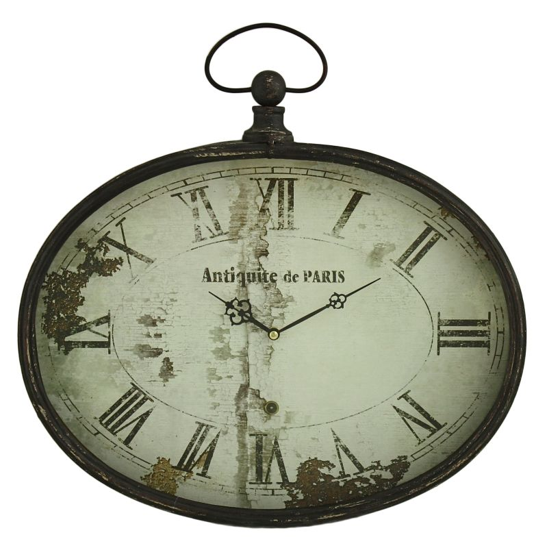 Aspire Home Accents 5383 Sadie Oval Wall Clock Black Home Decor Wall