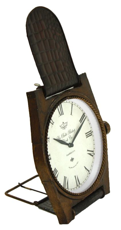 Aspire Home Accents 5474 Wristwatch Table Clock Brown Home Decor Desk