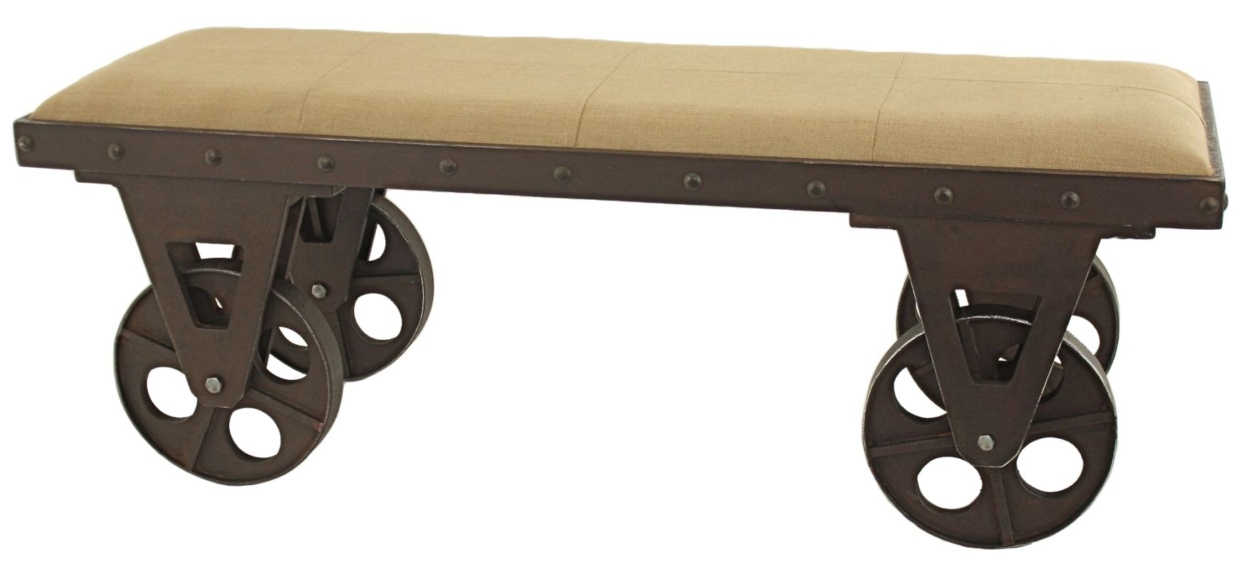 Aspire Home Accents 5536 Bolton Industrial Bench Brown Furniture