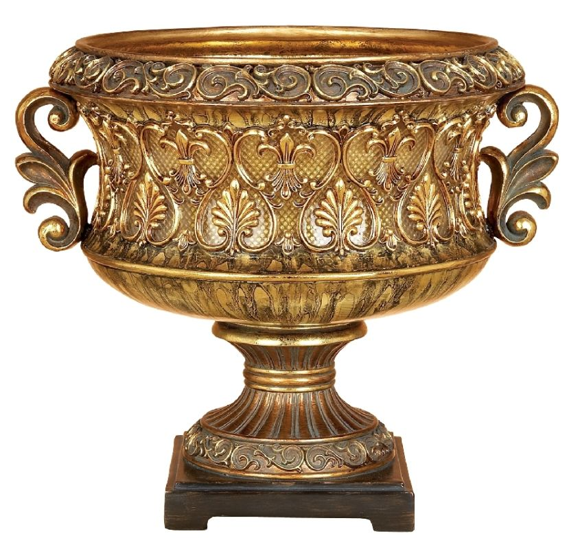 Aspire Home Accents 58102 Elegant Decorative Bowl Antique Gold / Brown