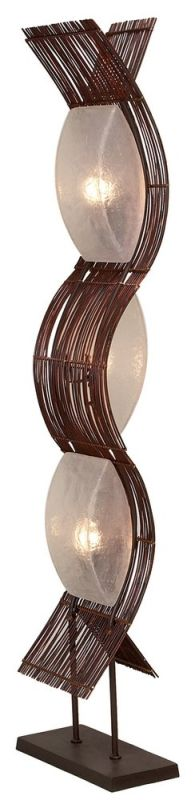 Aspire Home Accents 58829 Liam Abstract Floor Lamp Brown Lamps