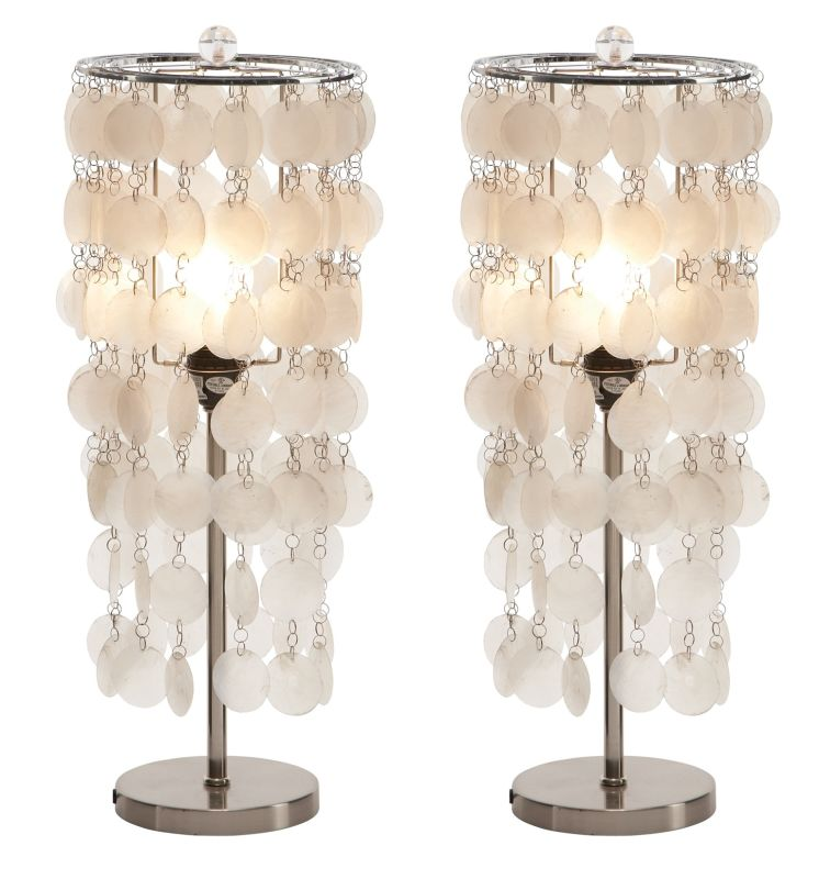 Aspire Home Accents 58869 Darrion Accent Lamp (Set of 2) Silver /