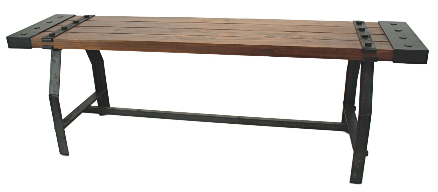 Aspire Home Accents 5947 Elkhart Wood Bench Brown Furniture Benches