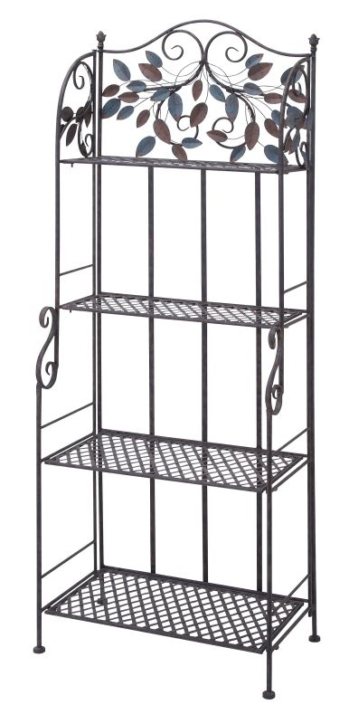 Aspire Home Accents 63291 Nichol Metal Bakers Rack Brown Home Decor