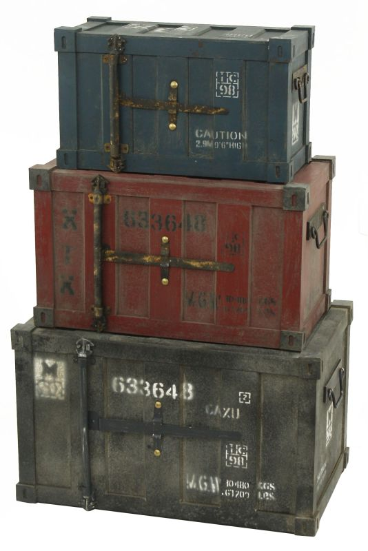Aspire Home Accents 6512 Broderick Container Trunks (Set of 3)